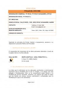 ITV RIVAS AVISO LEGAL y POLITICA DE PRIVACIDAD01